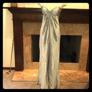 Laundry Silver Strapless Gown